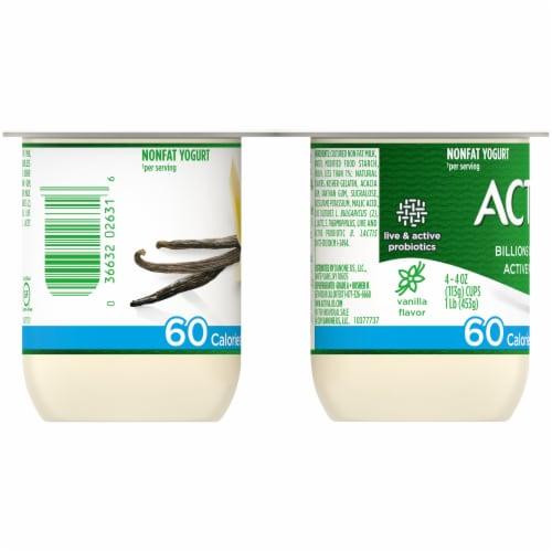 Activia Light Vanilla Nonfat Probiotic Yogurt Perspective: left