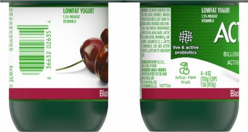 Activia Black Cherry Lowfat Probiotic Yogurt (4 Pack) Perspective: left