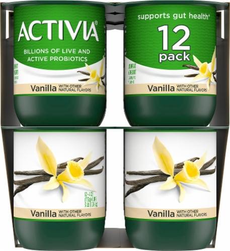 Dannon Activia Vanilla Probiotic Lowfat Yogurt 12 Count Perspective: left
