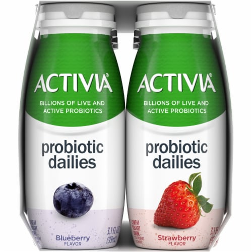 Dannon Activia Probiotic Dailies Strawberry & Blueberry Lowfat Yogurt Drink Perspective: left