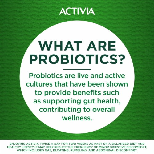 Activia Blended Strawberry & Peach Lowfat Probiotic Yogurt Perspective: left