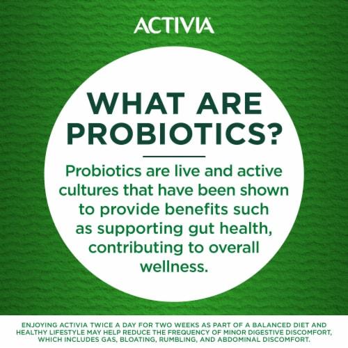 Activia Strawberry & Peach Lowfat Probiotic Yogurt Perspective: left
