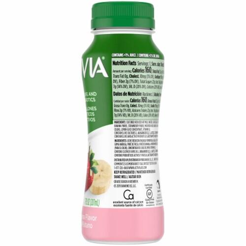 Activia Strawberry Banana Lowfat Probiotic Yogurt Drink Perspective: left