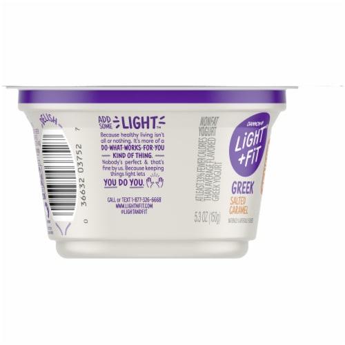 Dannon Light & Fit Salted Caramel Original Nonfat Greek Yogurt Perspective: left
