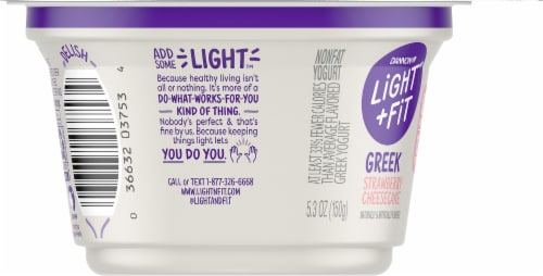 Dannon Light & Fit Strawberry Cheesecake Greek Yogurt Perspective: left
