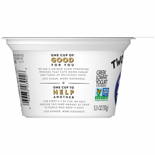 Two Good Blueberry Lowfat Greek Yogurt Perspective: left