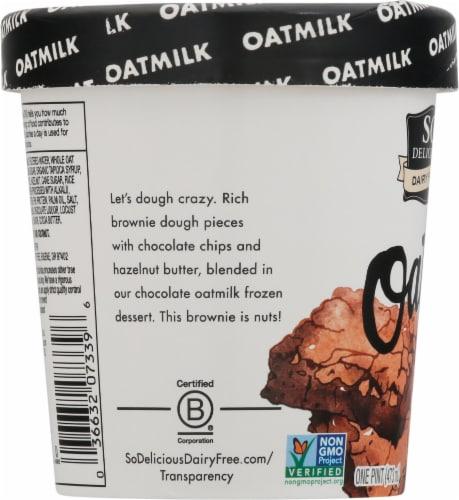 SO Delicious Oatmilk Chocolate Hazelnut Brownie Dairy Free Frozen Dessert Perspective: left