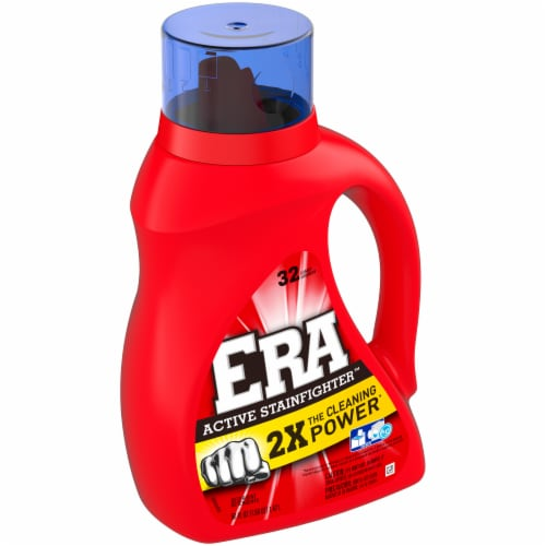 Era 2x Concentrated Liquid Laundry Detergent Perspective: left
