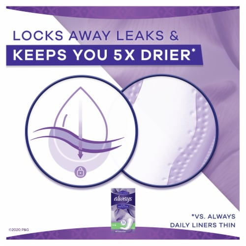 Always Xtra Protection Long Unscented Daily Liners Perspective: left