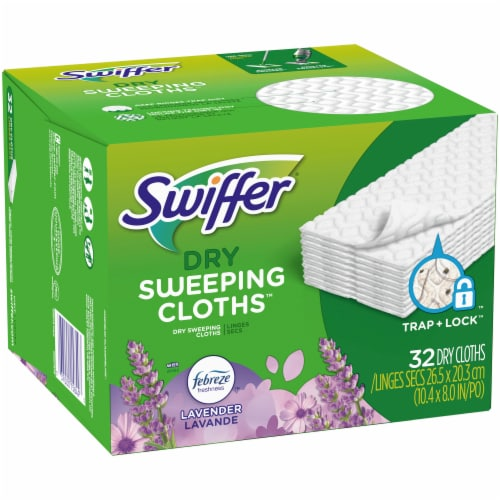 Swiffer Lavender Scented Dry Sweeping Cloth Refills Perspective: left