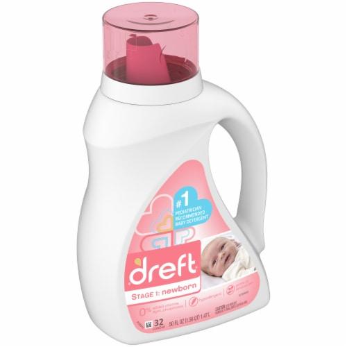 Dreft Stage 1 Newborn Baby Liquid Laundry Detergent Perspective: left