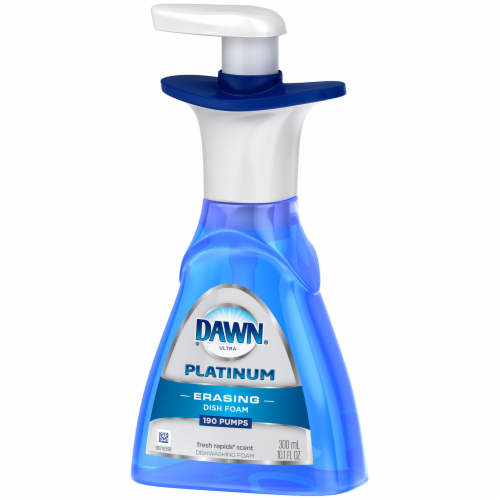 Dawn Ultra Platinum Fresh Rapids Scent Erasing Dish Foam Pump Perspective: left