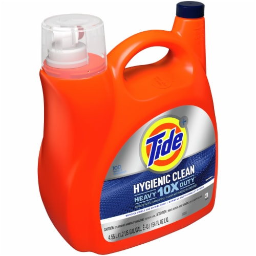 Tide Hygienic Clean 10X Heavy Duty Original Liquid Laundry Detergent Perspective: left