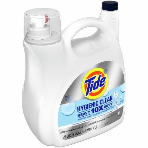 Tide Hygienic Clean Heavy Duty Liquid Laundry Detergent Perspective: left