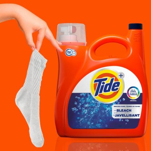Tide Plus Bleach Alternative HE Turbo Clean Liquid Laundry Detergent Perspective: left