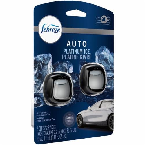 Febreze Platinum Ice Car Air Freshener Vent Clip Perspective: left