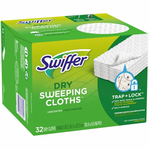 Swiffer Unscented Dry Sweeping Cloths Refills Perspective: left
