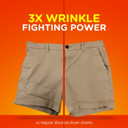Bounce® Outdoor Fresh Wrinkle Guard Dryer Sheets Perspective: left