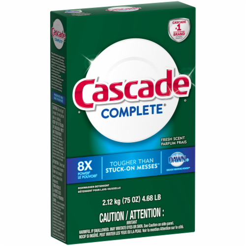 Cascade Complete Dawn Fresh Scent Dishwasher Detergent Perspective: left