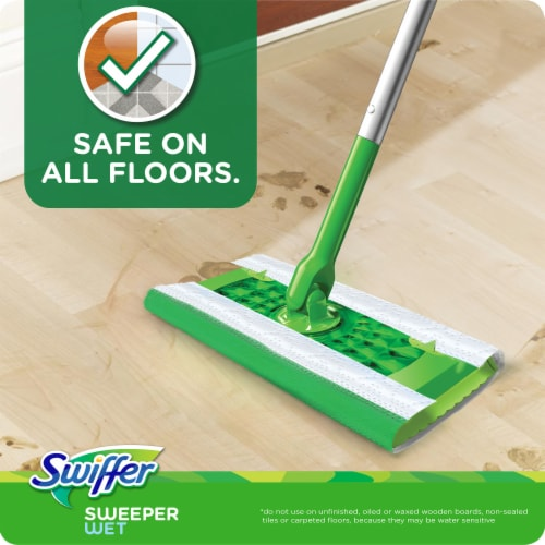 Swiffer Fresh Scent Wet Mopping Cloths Refill Perspective: left