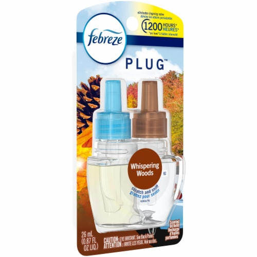 Febreze Plug Whispering Woods Scented Oil Refill Perspective: left