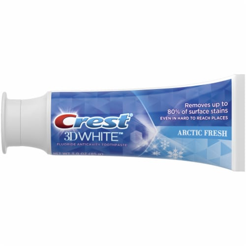 Crest 3D White Arctic Fresh Whitening Toothpaste Perspective: left