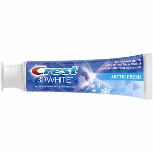 Crest 3D White Whitening Toothpaste Arctic Fresh Perspective: left