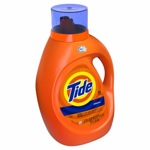 Tide® High Efficiency Compatible Original Liquid Laundry Detergent Perspective: left
