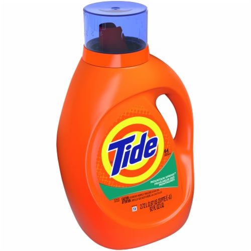 Tide Mountain Spring High Suds Liquid Laundry Detergent Perspective: left