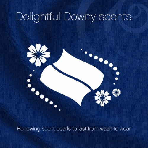 Downy Infusions Bliss Sparkling Amber and Rose Fabric Softener Dryer Sheets Perspective: left