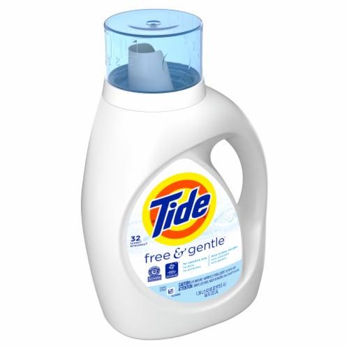 Tide® Free & Gentle™ Liquid Laundry Detergent Perspective: left