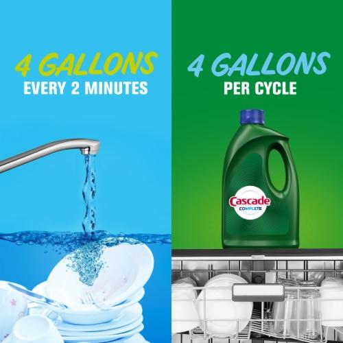 Cascade Complete Citrus Breeze Scent Dishwasher Detergent Gel Perspective: left