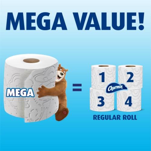 Charmin Ultra Soft Mega Roll Toilet Paper Perspective: left