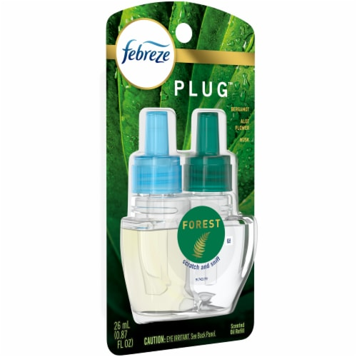 Febreze Plug Forest Scented Oil Refill Perspective: left