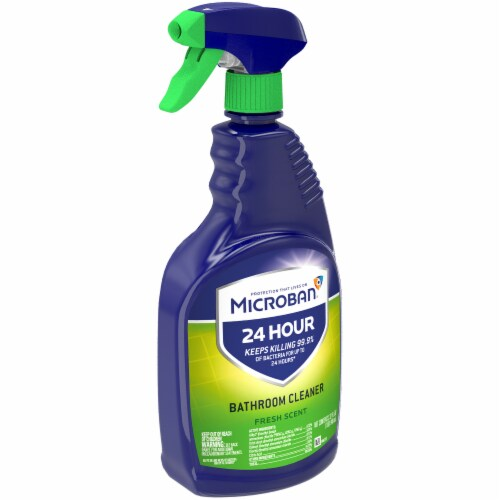 Microban Fresh Scent 24 Hour Bathroom Cleaner Perspective: left