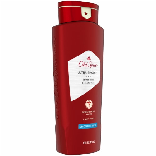 Old Spice Smooth Finish Gentle Body & Beard Wash Perspective: left