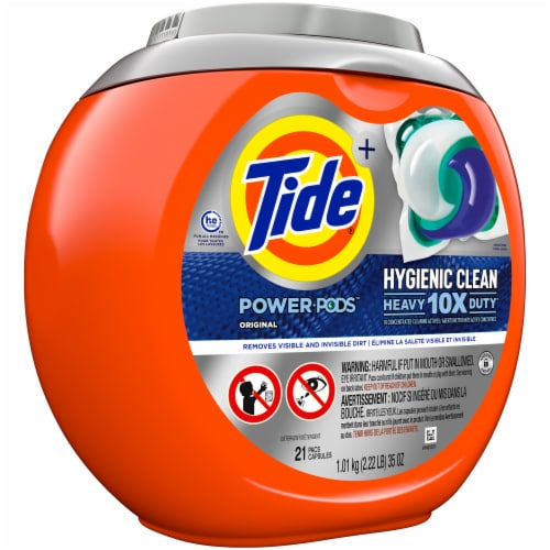 Tide Original Hygienic Clean Heavy Duty Power Pods Perspective: left