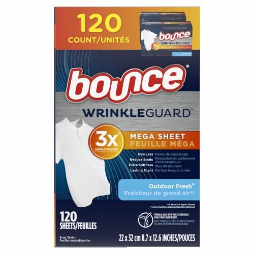 Bounce® Wrinkle Guard Outdoor Fresh Mega Dryer Sheets Perspective: left