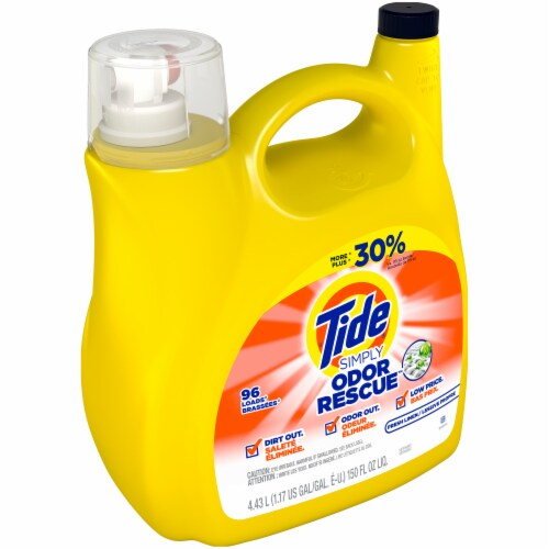 Tide Simply Odor Rescue Fresh Linen Liquid Laundry Detergent Perspective: left
