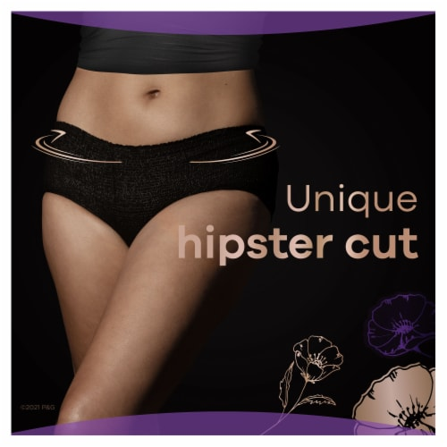 Always Discreet Boutique Maximum Large Low Rise Women's Incontinence Underwear Perspective: left