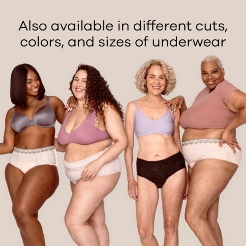 Always Discreet Boutique Maximum Large Low Rise Women's Incontinence Underwear Perspective: left