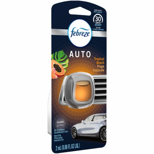 Febreze Auto Tropical Beach Air Freshener Car Vent Clip Perspective: left