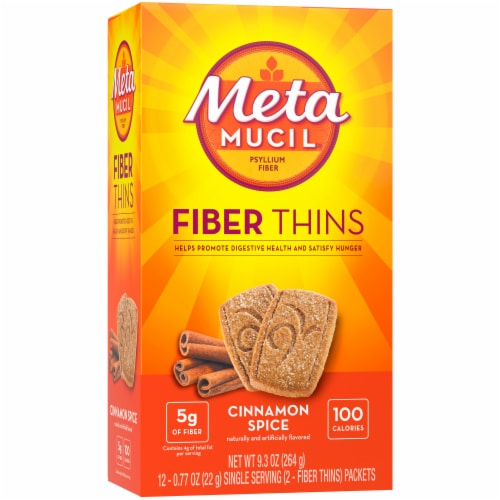 Metamucil Cinnamon Fiber Wafers Perspective: left
