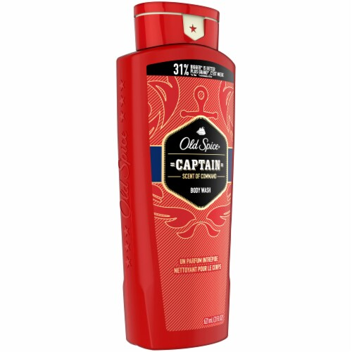 Old Spice Captain Scent of Command Body Wash for Men Perspective: left