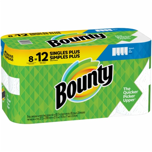Bounty Select-A-Size Single Plus Roll Paper Towels Perspective: left
