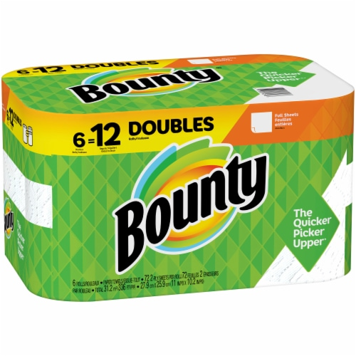 Bounty Doubles White Paper Towels Perspective: left
