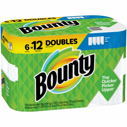 Bounty Select-A-Size Double Rolls Paper Towels Perspective: left