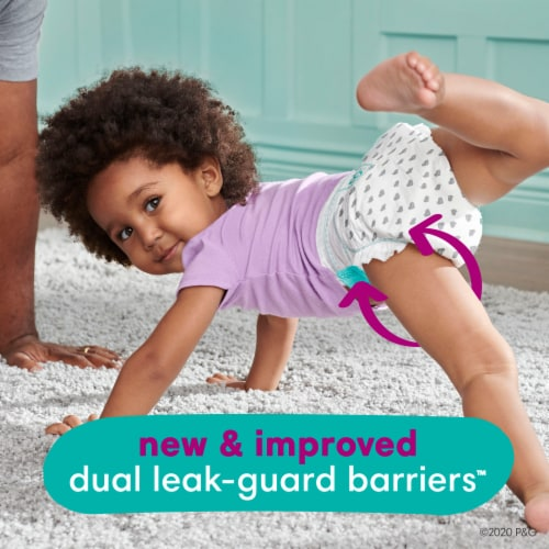 Pampers Cruisers Stay-Put Size 5 Diapers Perspective: left
