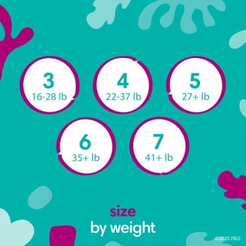 Pampers Cruisers Stay-Put Size 4 Diapers Perspective: left