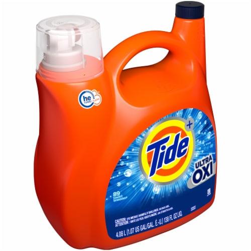 Tide Ultra Oxi Liquid Laundry Detergent Perspective: left